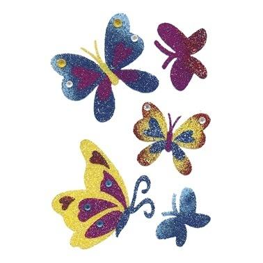 Herma Çocuk Etiketleri Taşlı Kelebek Renkli